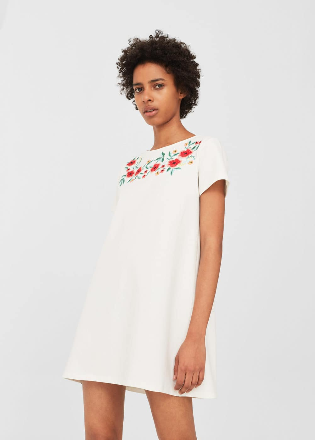 Floral embroidery dress | MANGO