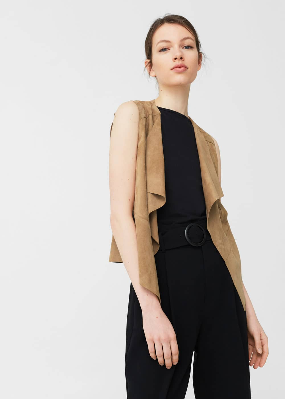 Leather gilet | MANGO