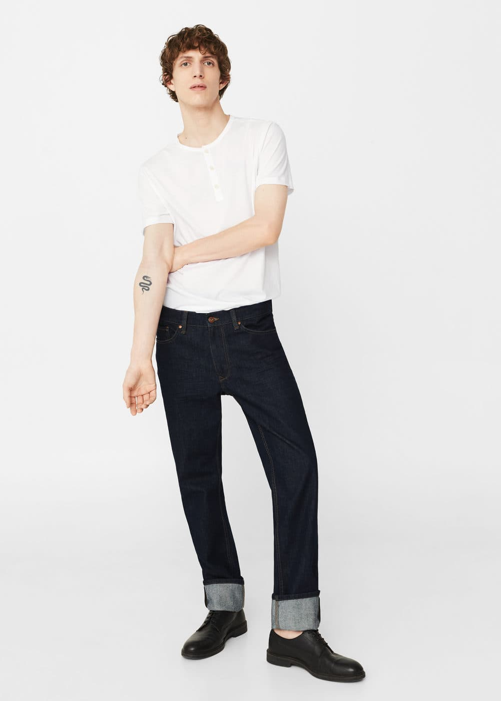 Henley cotton t-shirt | MANGO