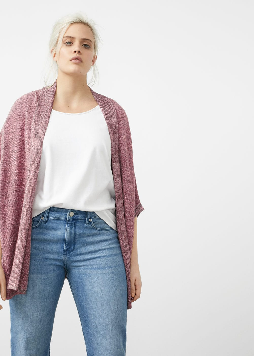 Metallic finish cardigan | MANGO
