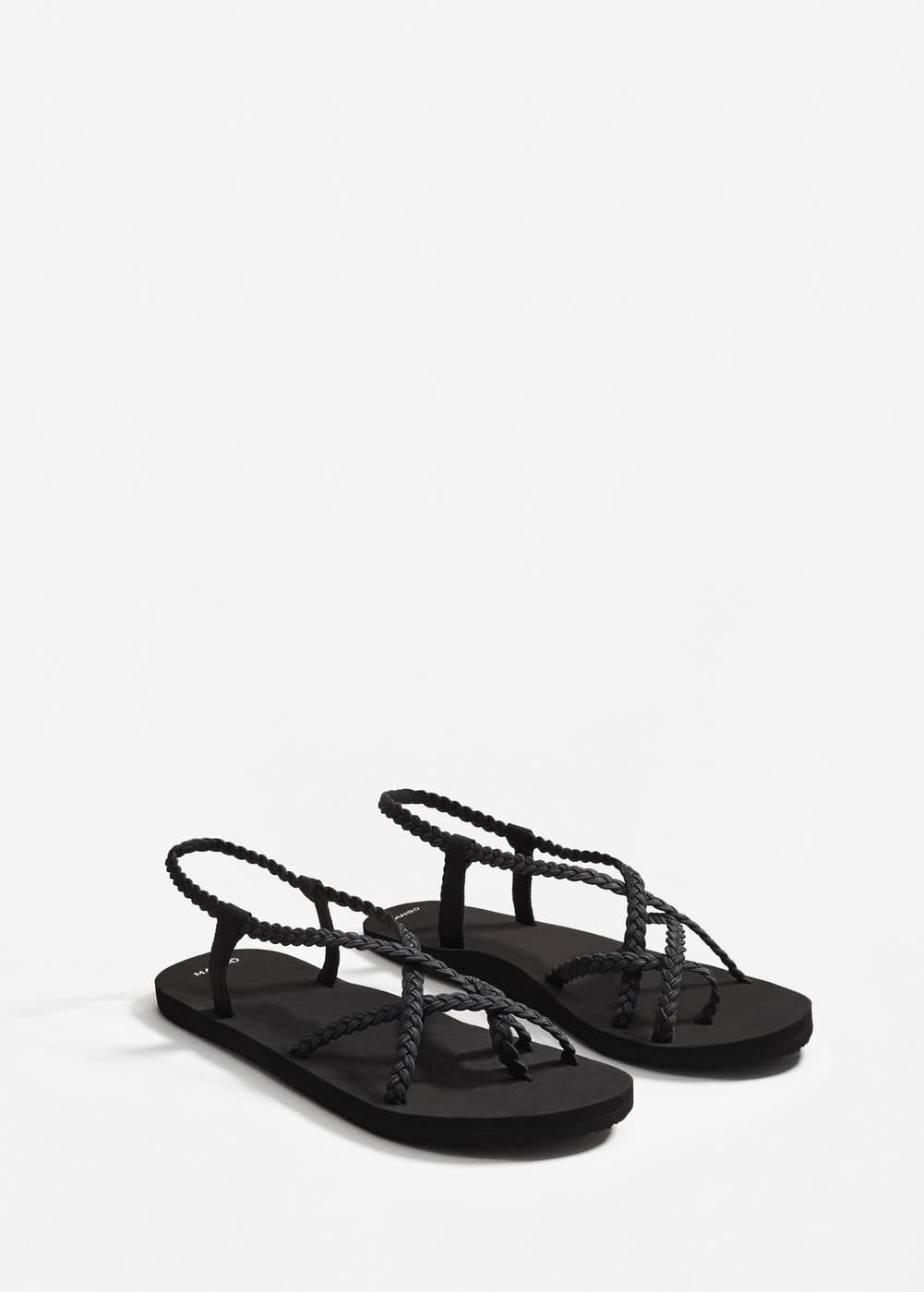 Braided sandal | MANGO