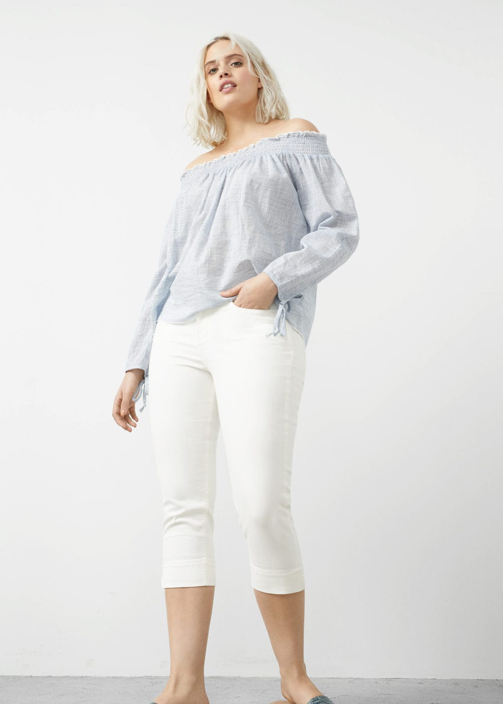 Capri slim-fit jeans | VIOLETA BY MNG