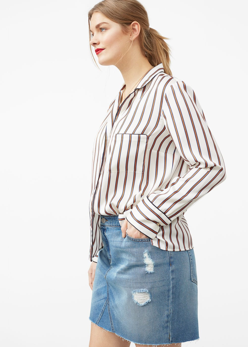 Falda denim medio | MNG