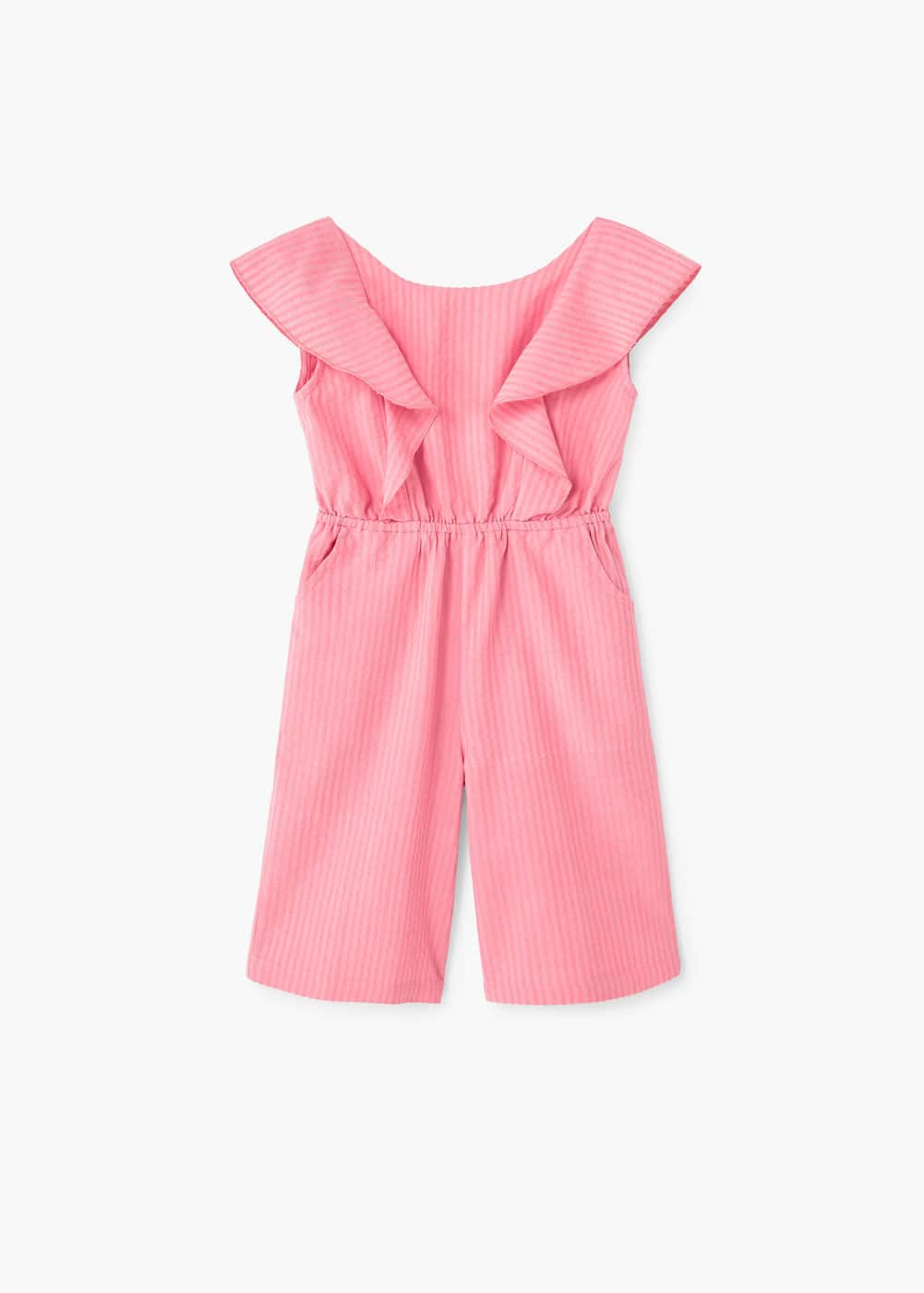 Striped cotton jumpsuit | MANGO KIDS