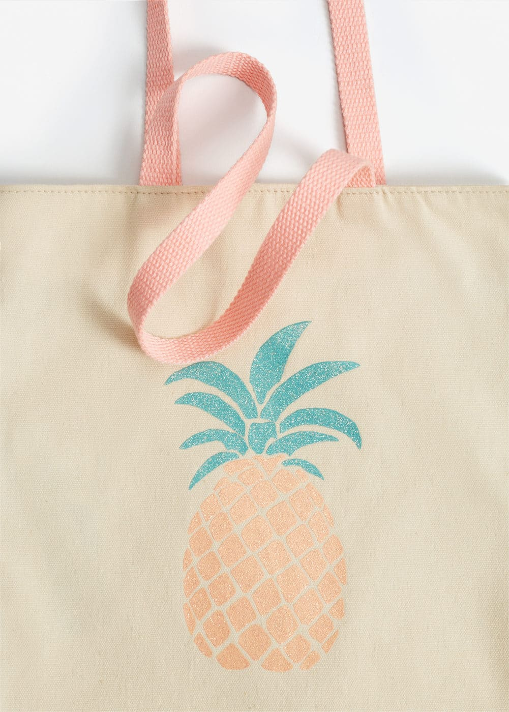 Cotton canvas bag | MANGO KIDS