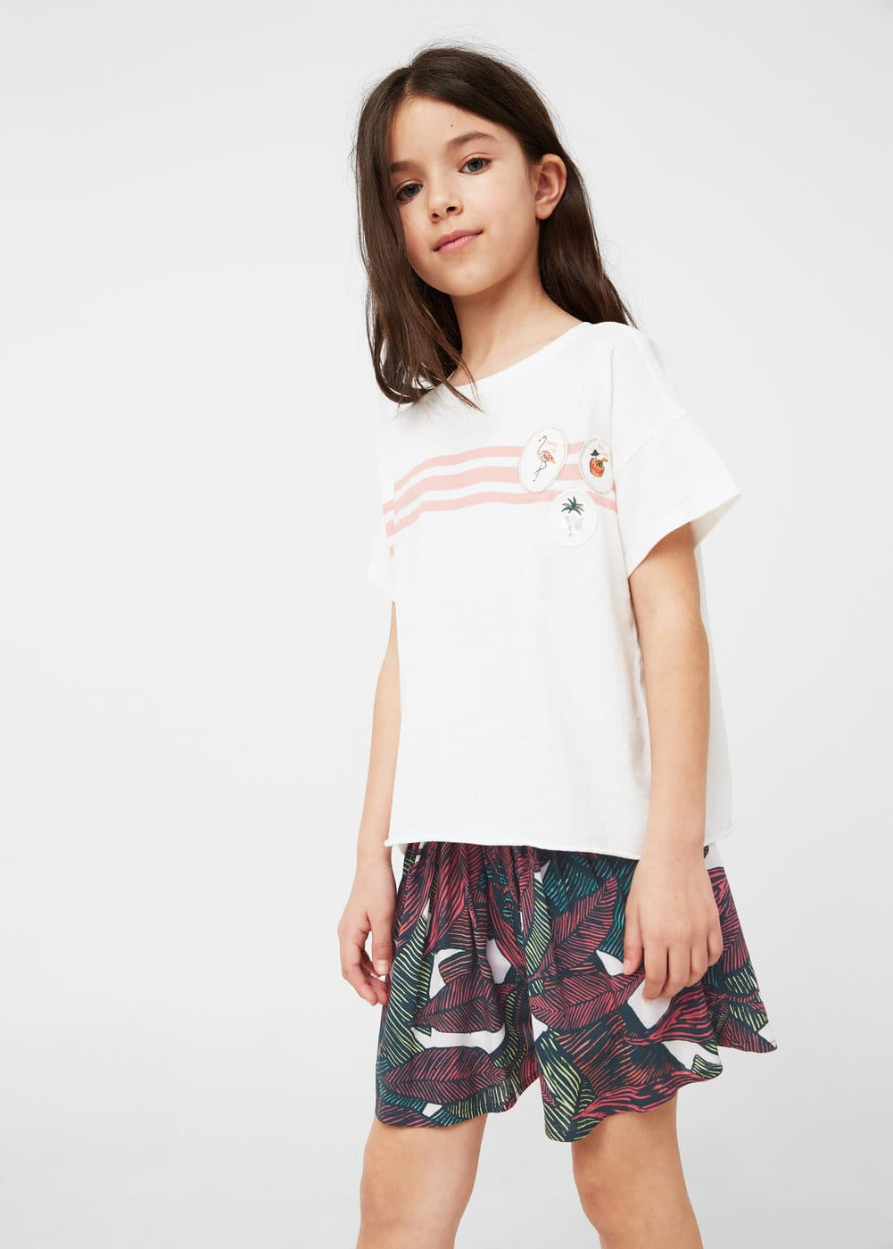 Printed flowy shorts | MANGO KIDS