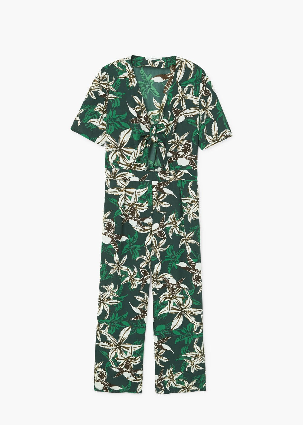 Tropical print jumpsuit | MANGO