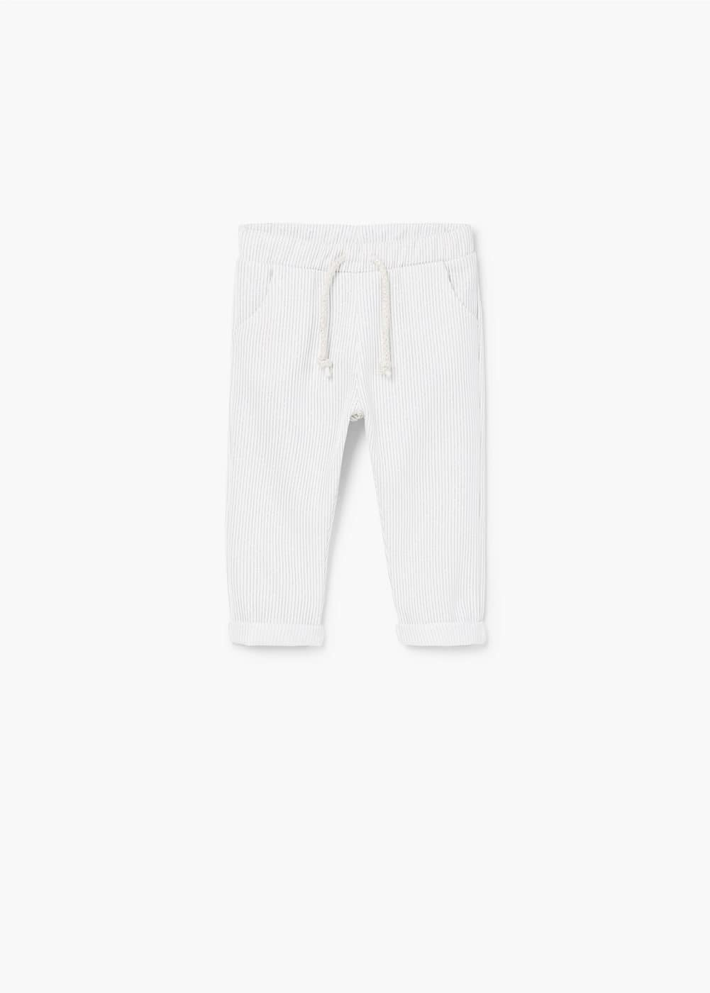 Metallic thread jogging trousers | MANGO KIDS