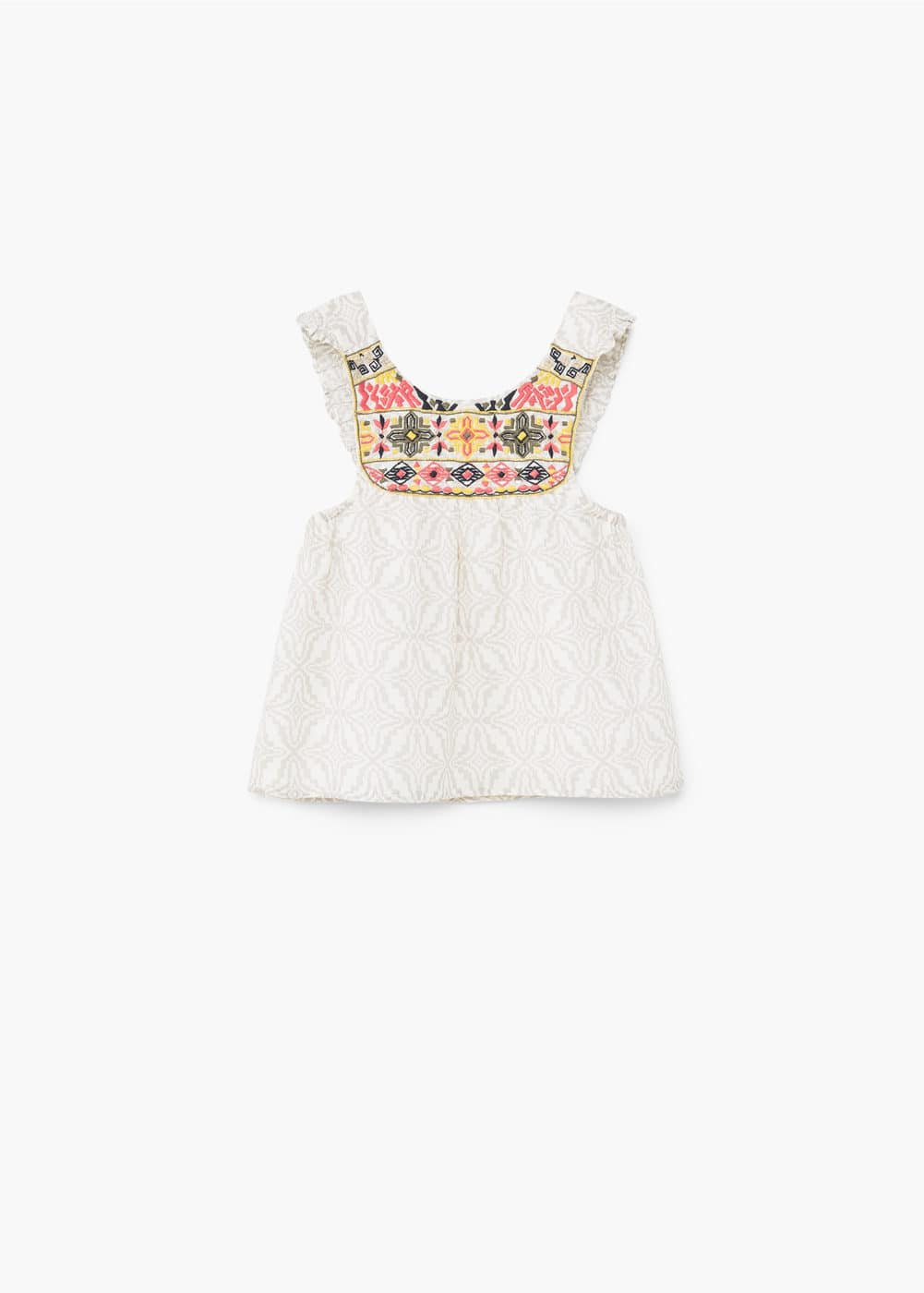 Geometric-print blouse | MANGO KIDS