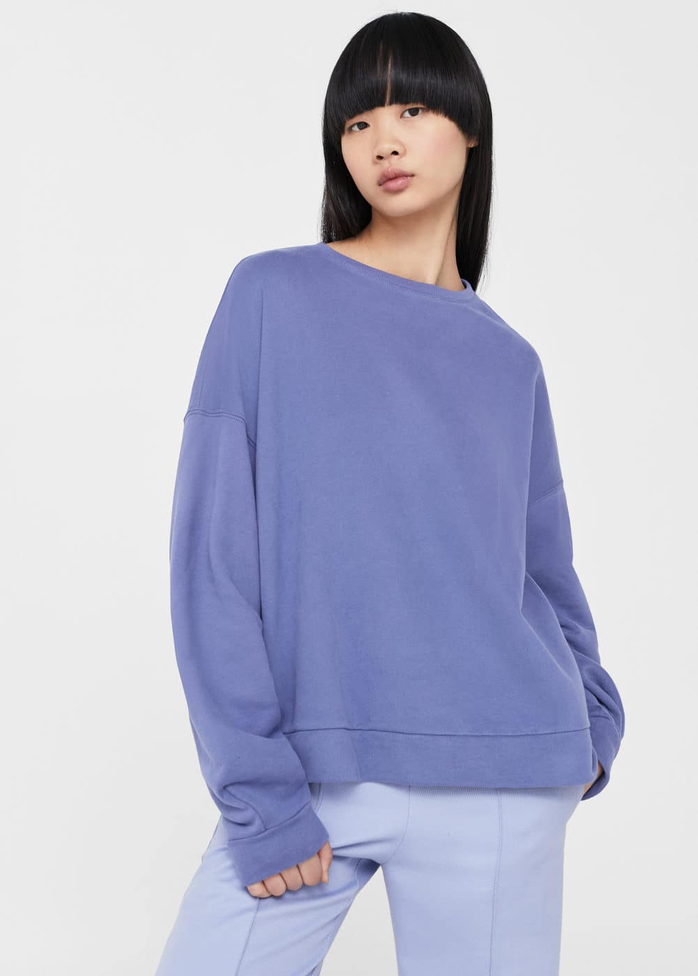 Sweat-shirt oversize en coton  | MANGO