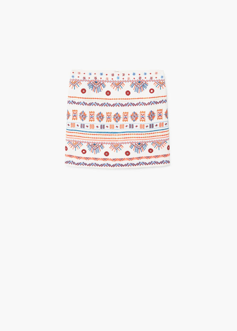 Embroidered skirt | MANGO