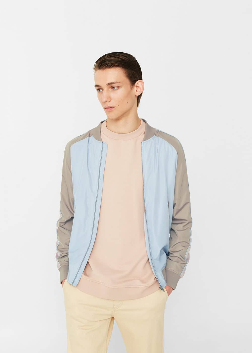 Panel water-repellent bomber jacket | MANGO MAN