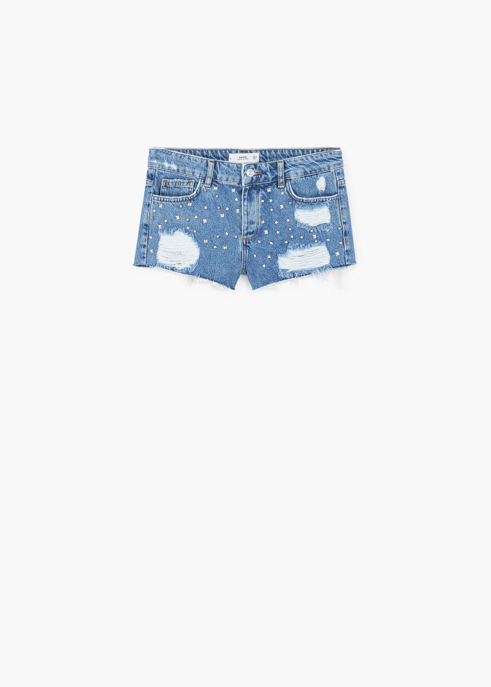 Bead denim shorts | MANGO