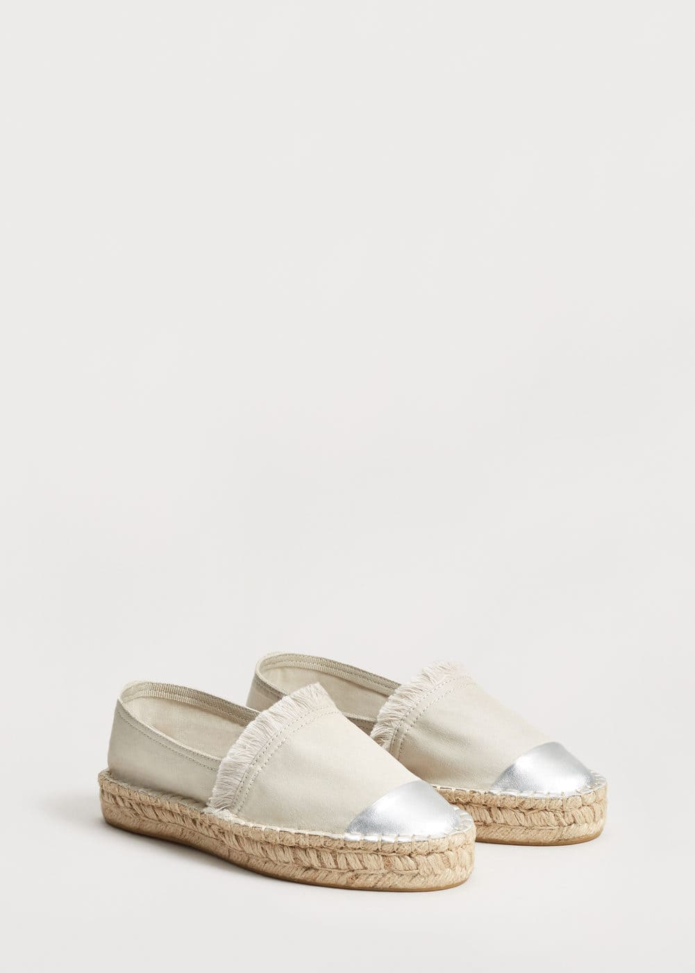 Bicolor cotton espadrilles | VIOLETA BY MANGO