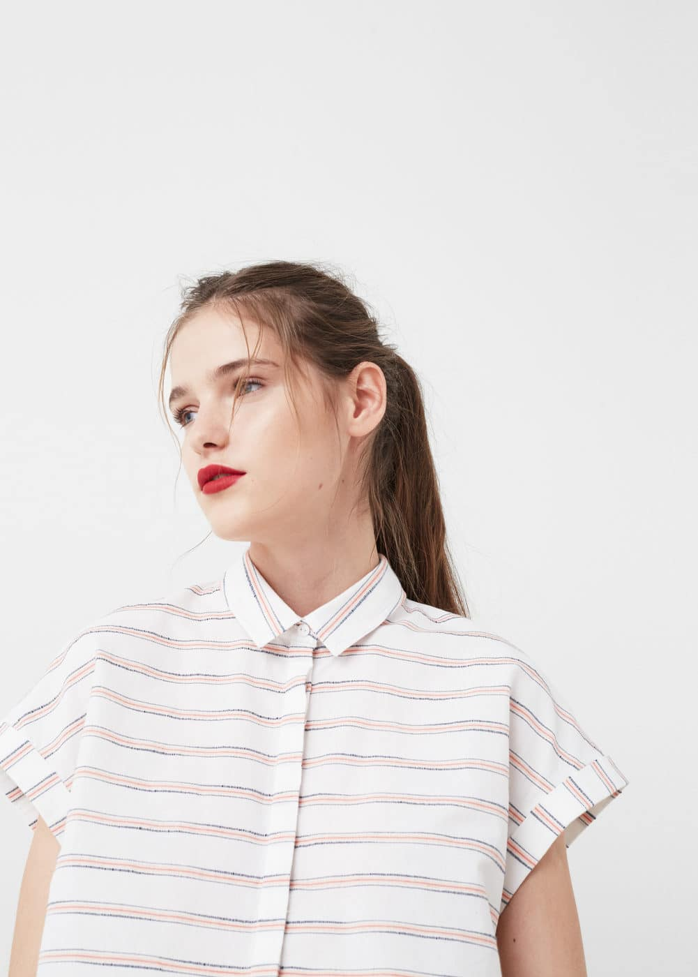 Striped cotton shirt | MNG