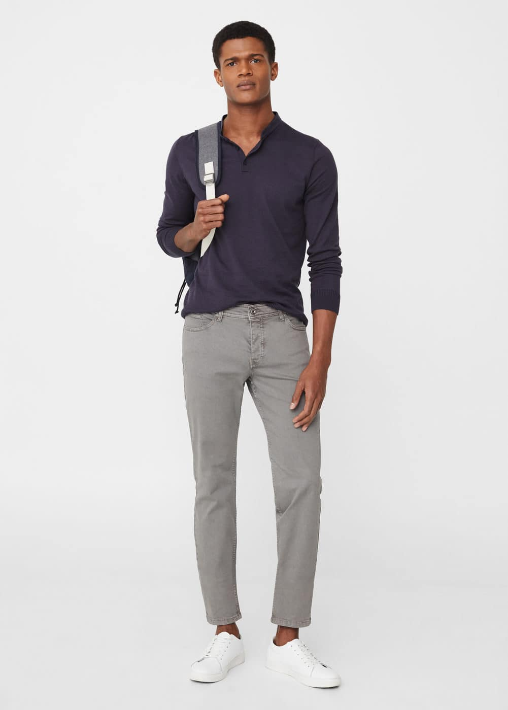 Pantalón slim-fit 5b garment-dyed | MANGO