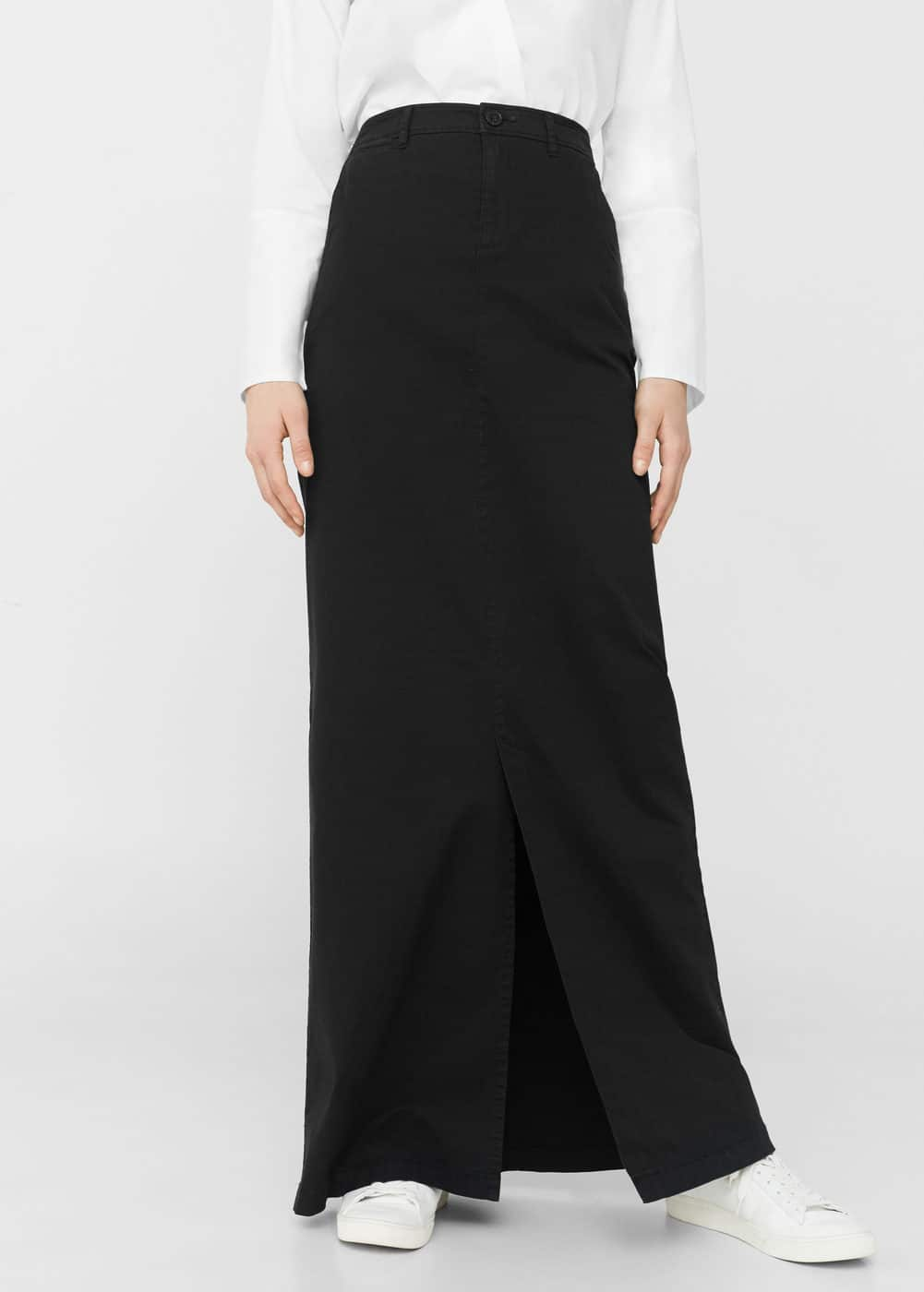Slit long skirt | MANGO