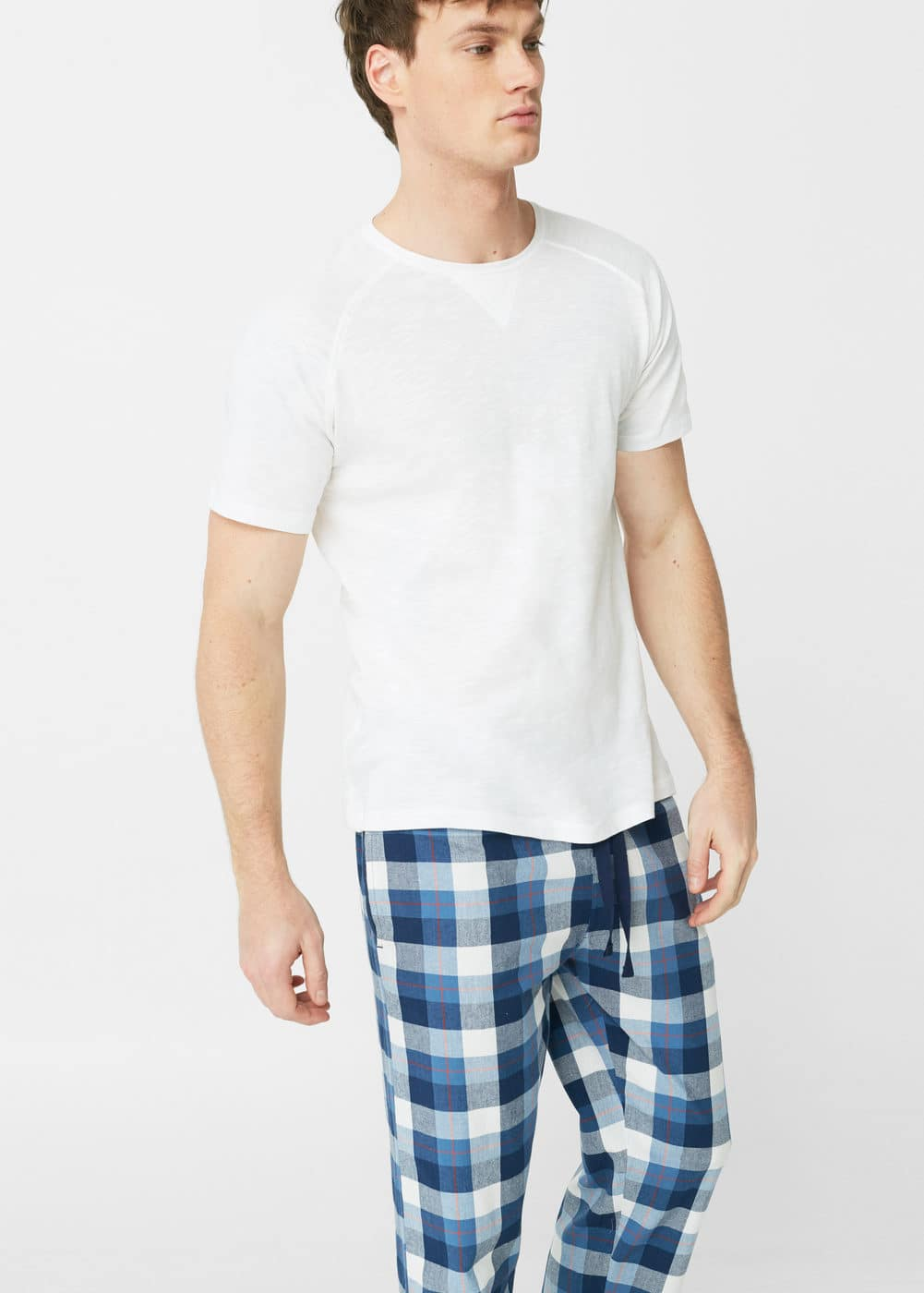 Check long pyjamas | MANGO MAN