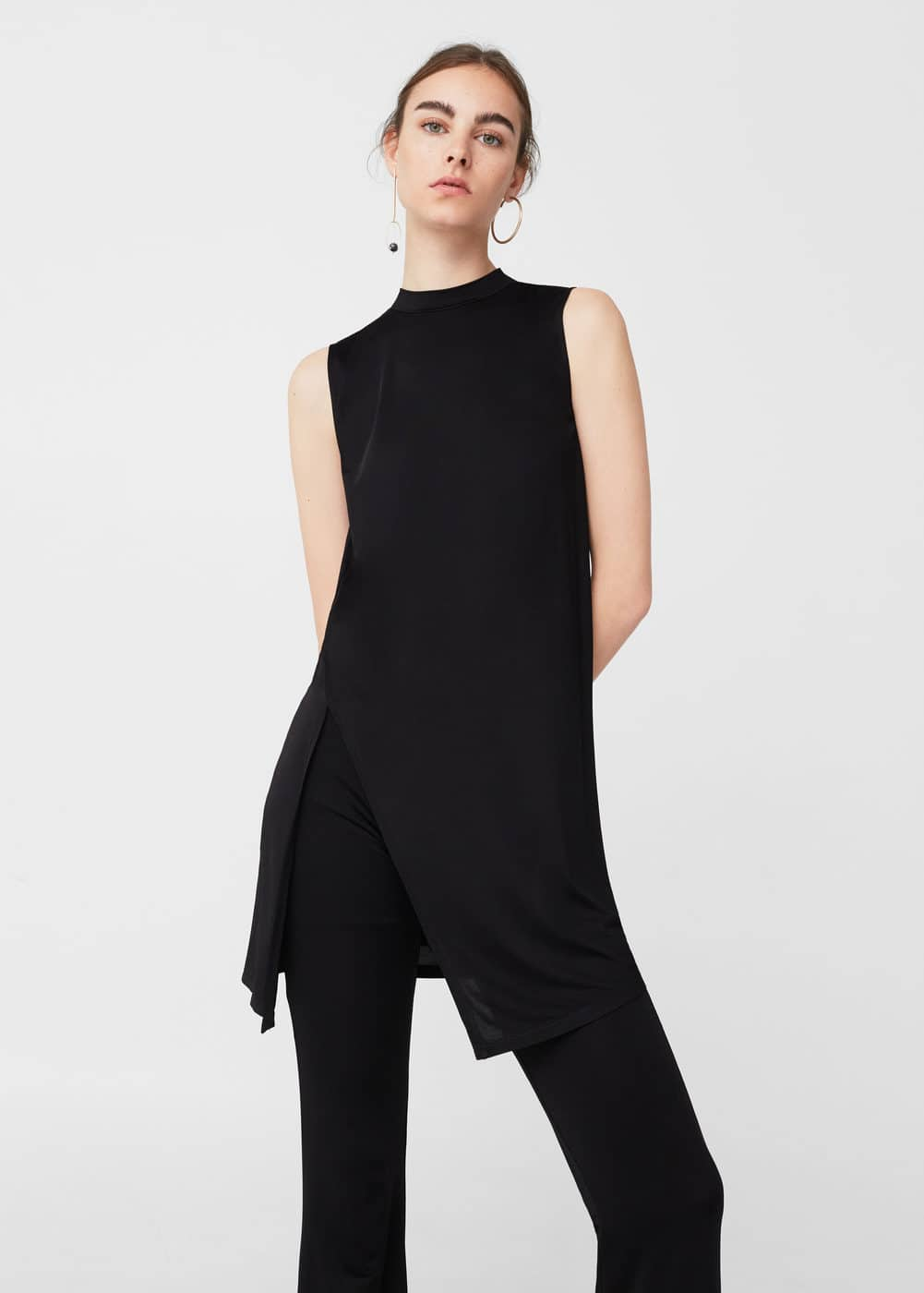 Side slit top | MANGO