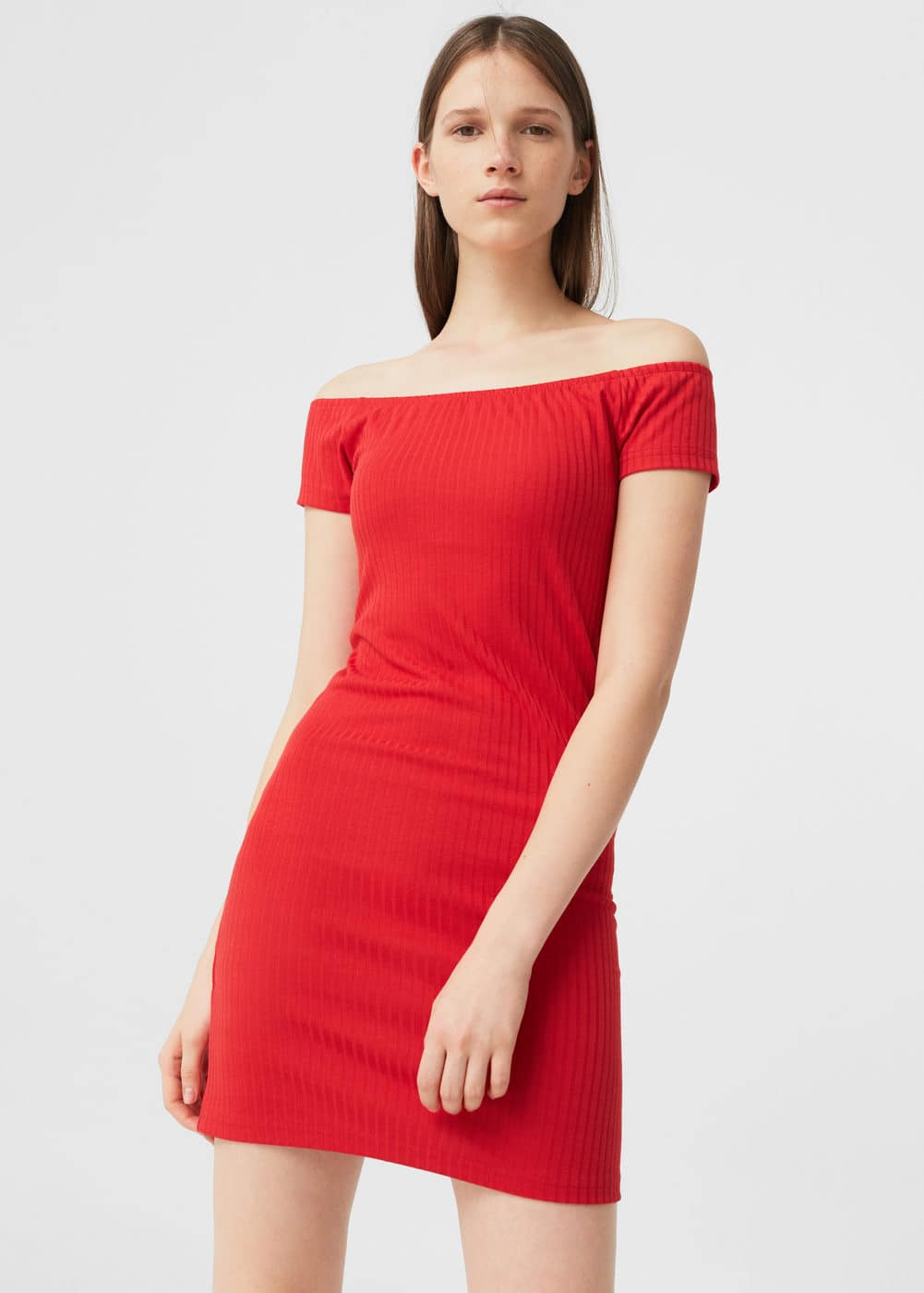 Tailored ribbed dress | MANGO