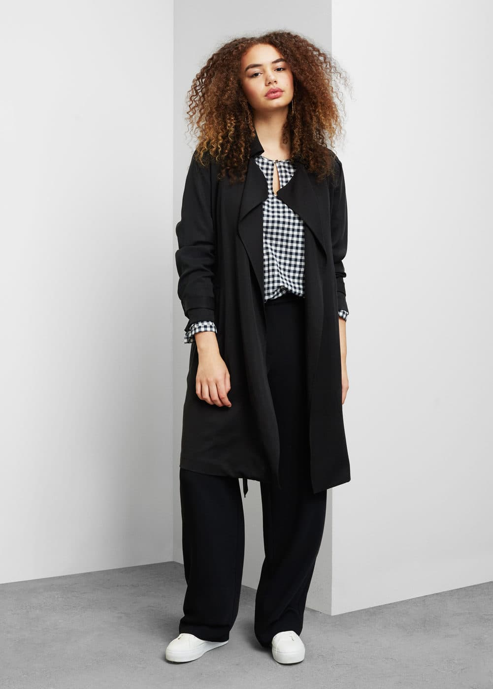 Soft fabric trench | VIOLETA BY MANGO