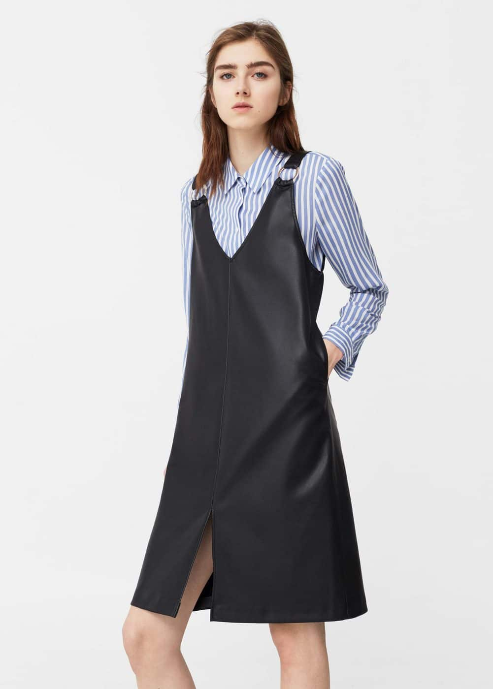 Metallic appliqués pinafore dress | MANGO