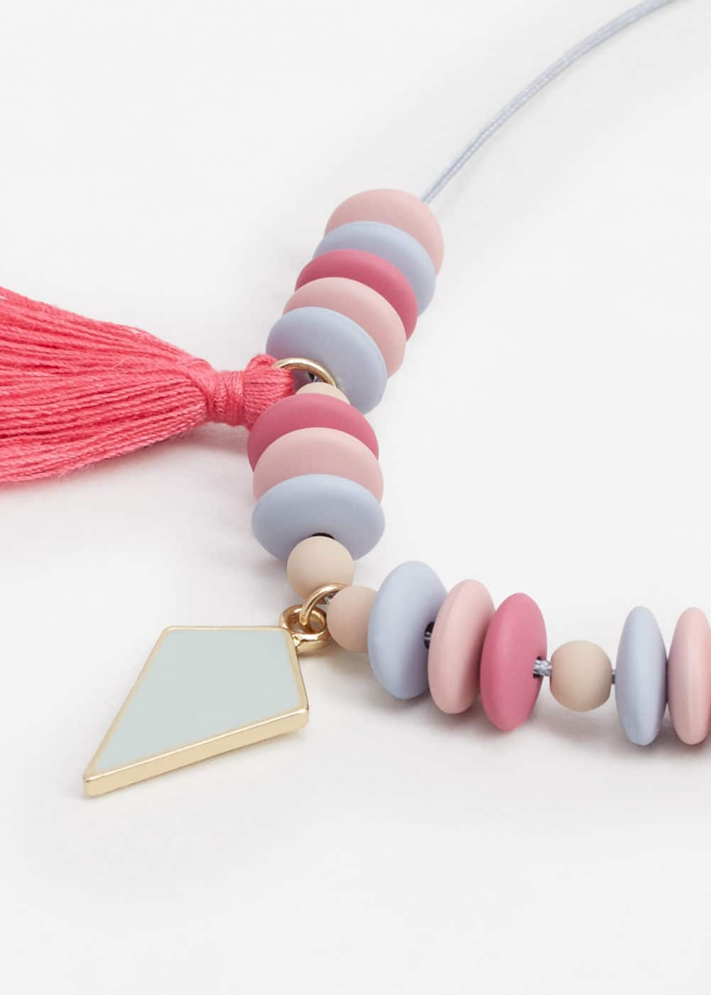 Tassel bead necklace | MANGO