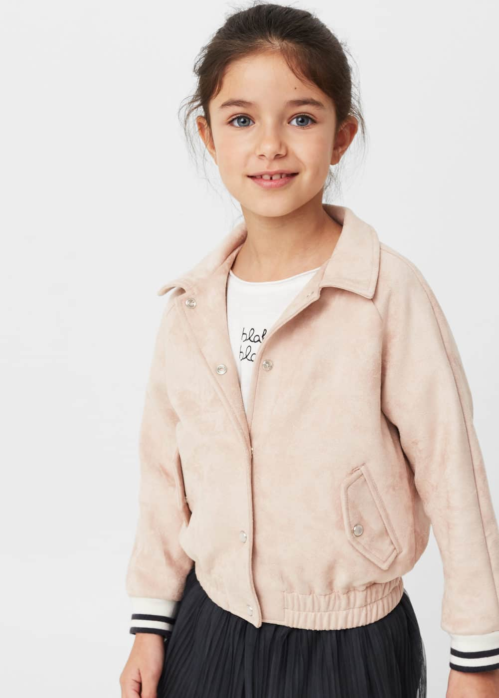 Soft finish bomber jacket | MANGO KIDS