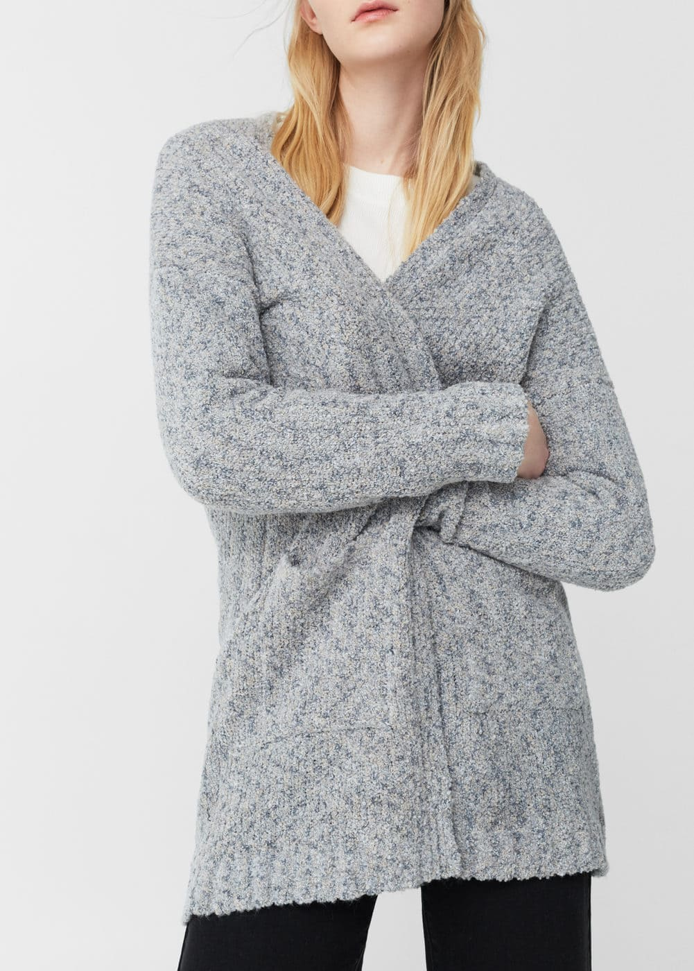 Chunky knit cardigan - Women | MANGO USA