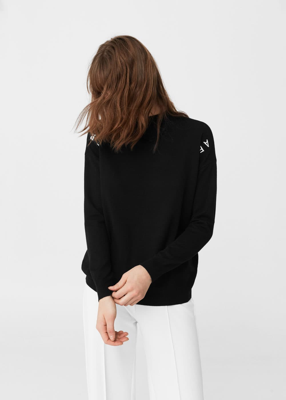 Embroidered message sweater | MANGO