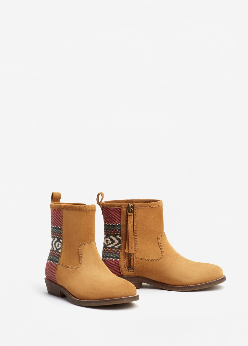 Leather western ankle boots | MANGO KIDS