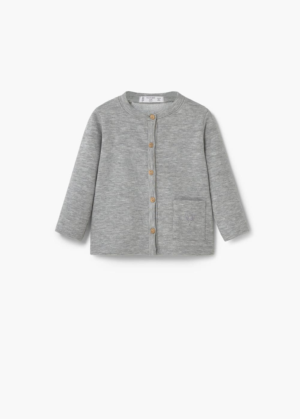Flecked cotton-blend jacket | MANGO KIDS