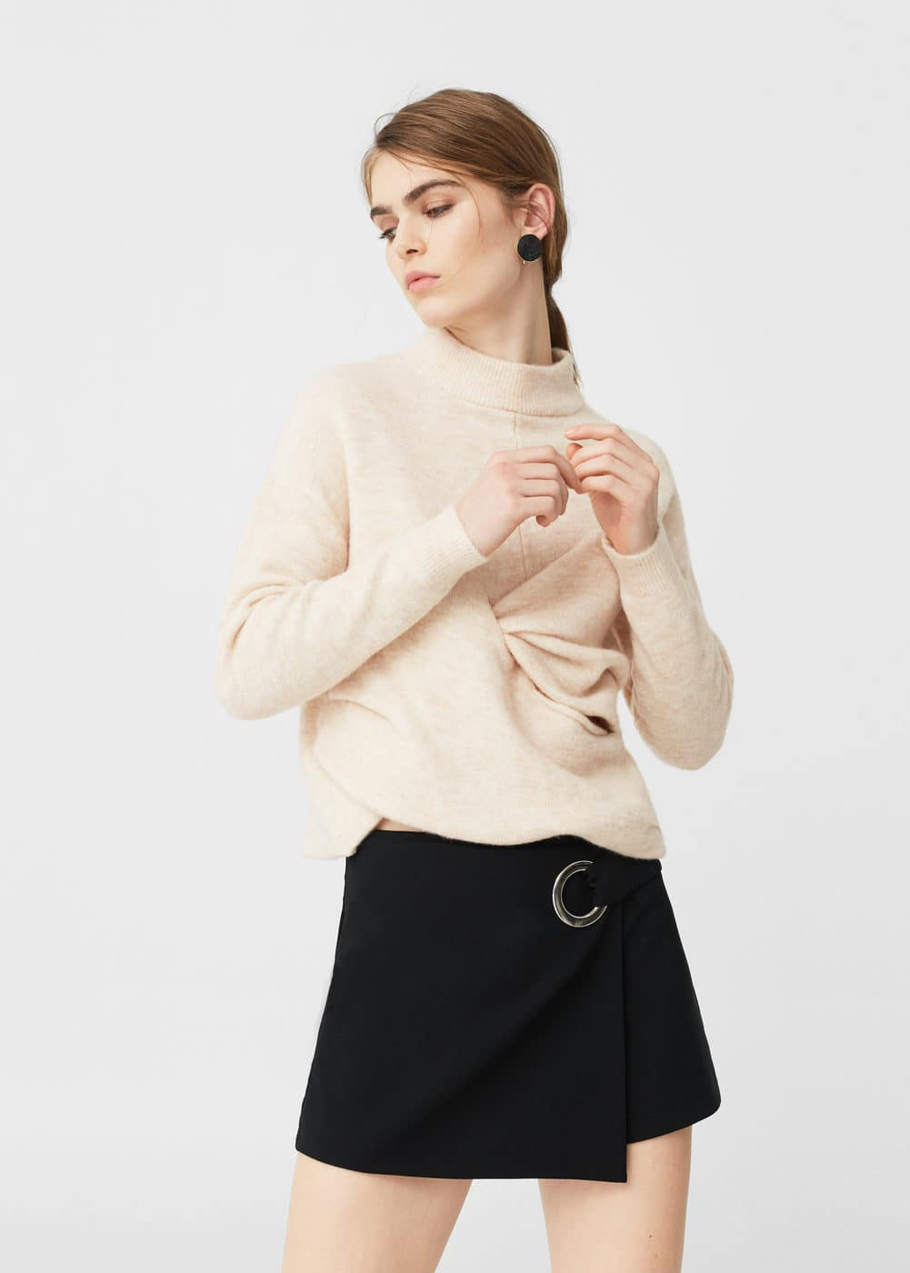 Knot detail sweater | MANGO