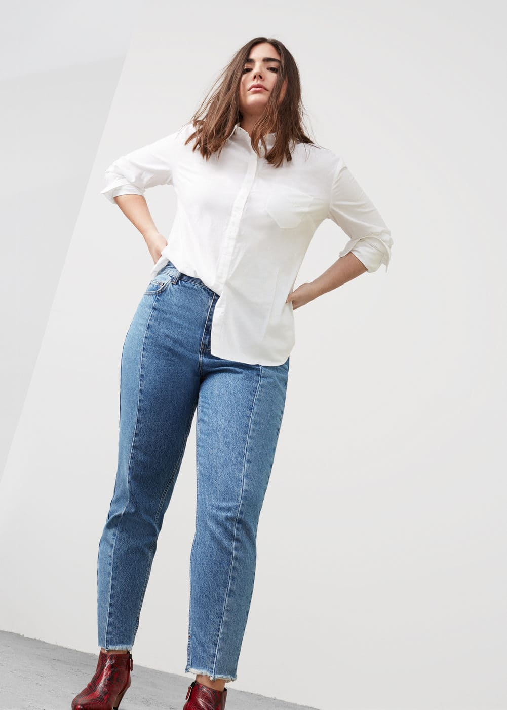 Mom-fit desi jeans | MANGO