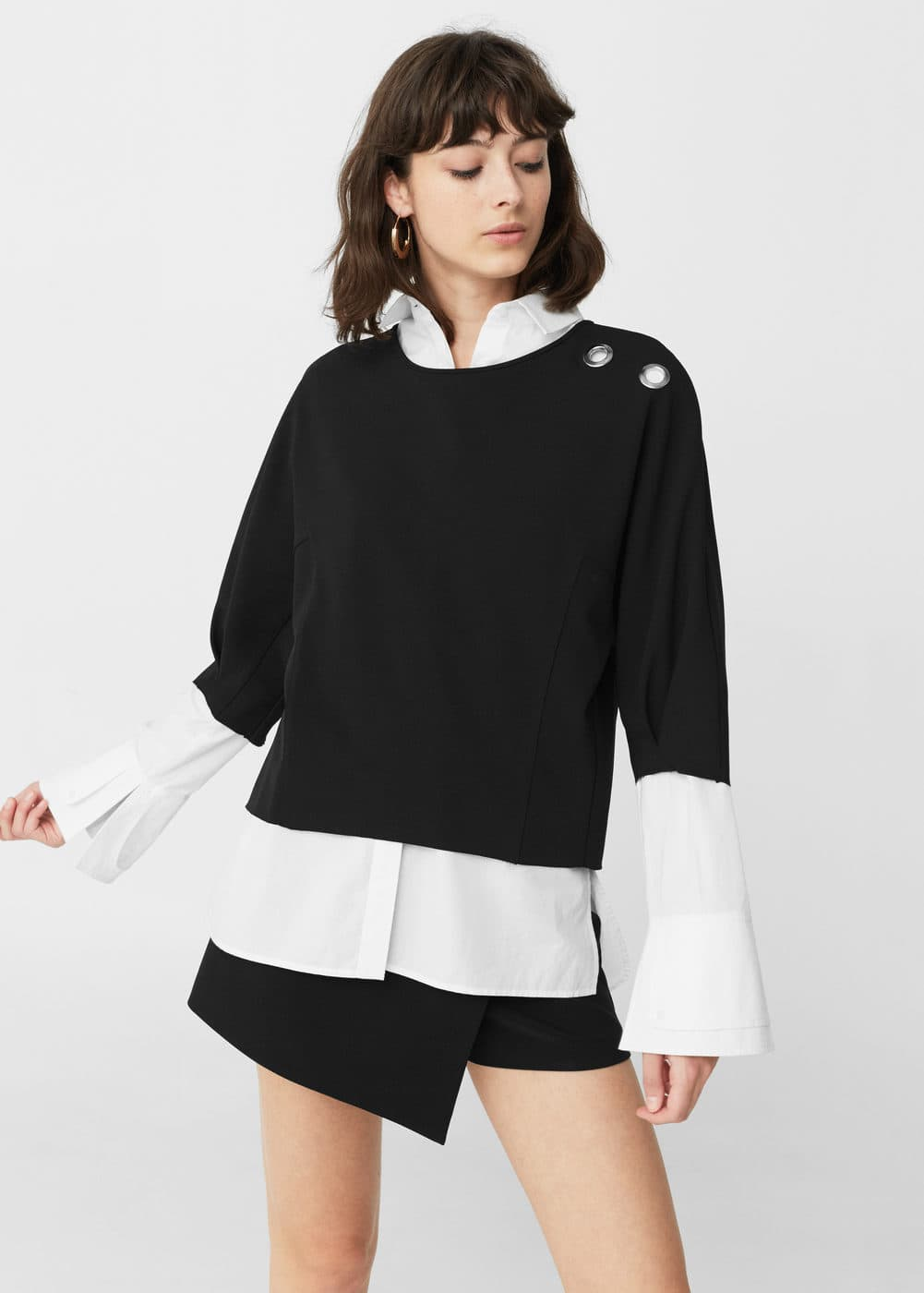 Sweat-shirt ornements métalliques | MANGO