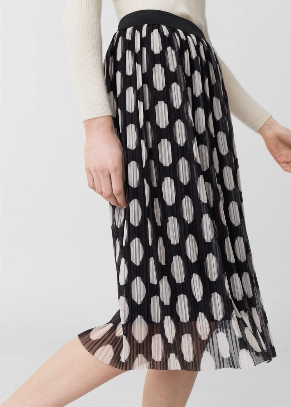 Printed pleated skirt | MANGO
