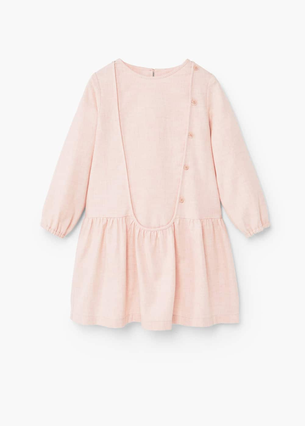 Flecked cotton-blend dress | MANGO KIDS
