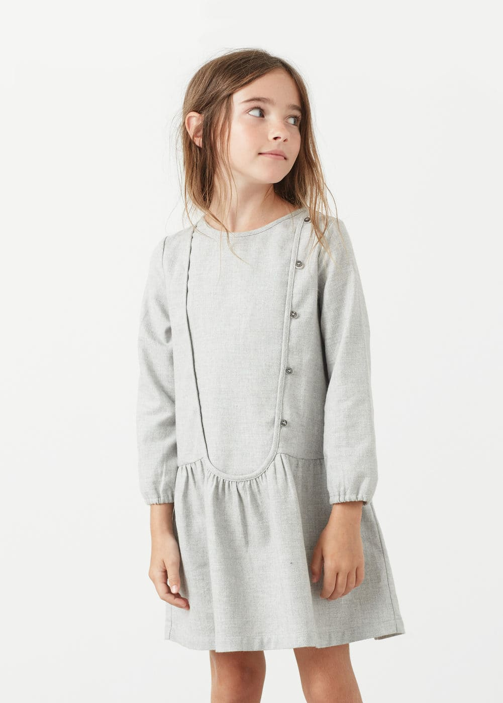 Buttones cotton dress | MANGO