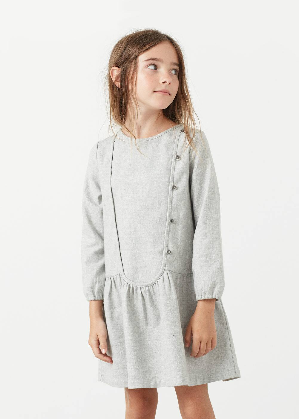 Buttones cotton dress | MANGO KIDS