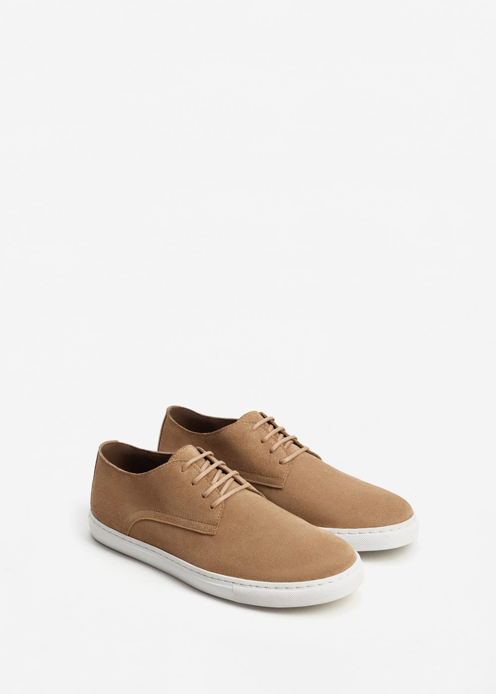 Lace-up suede sneakers | MANGO