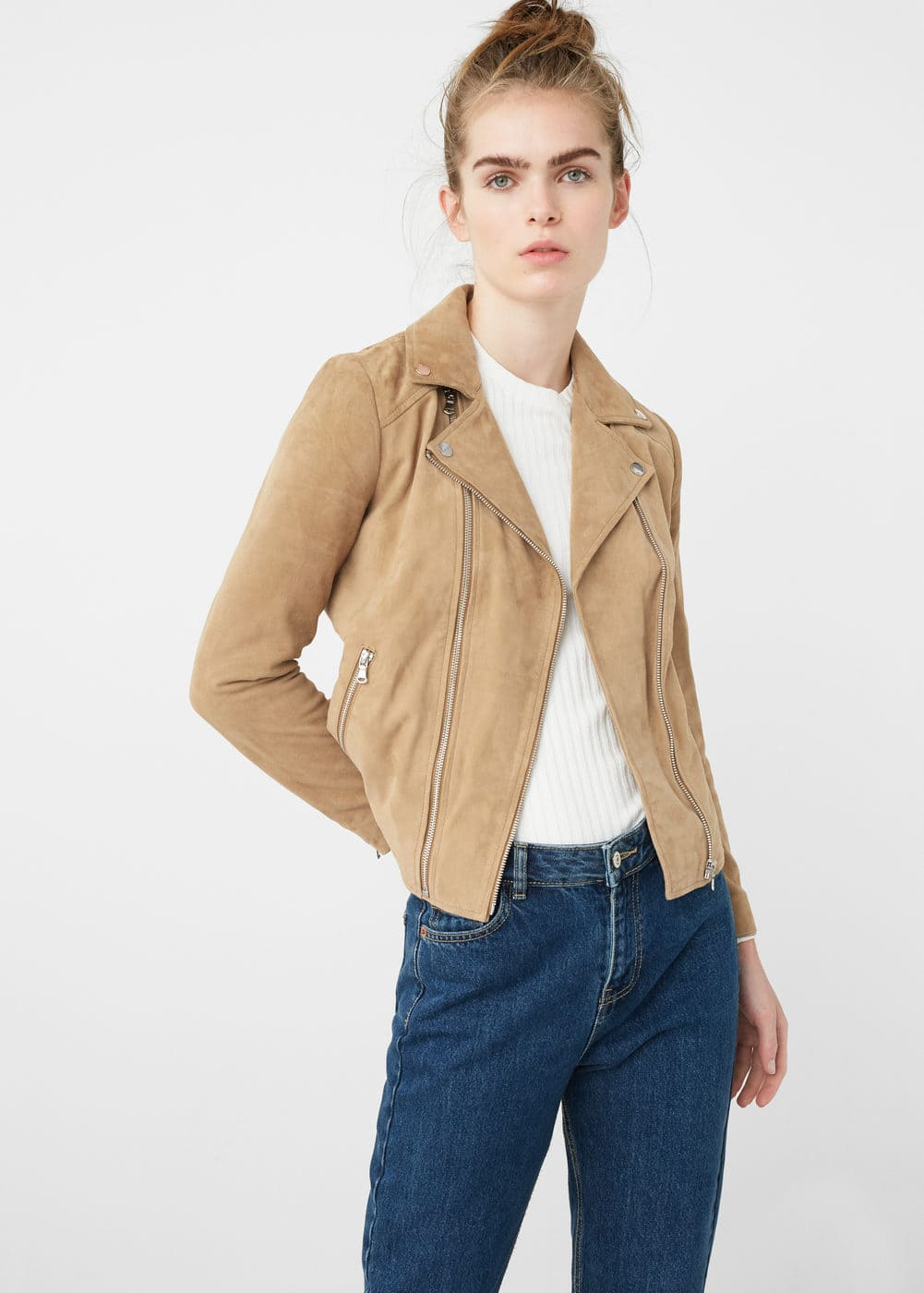 Zip leather jacket | MNG