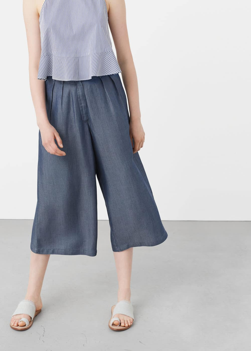 Tencel® denim trousers | MANGO