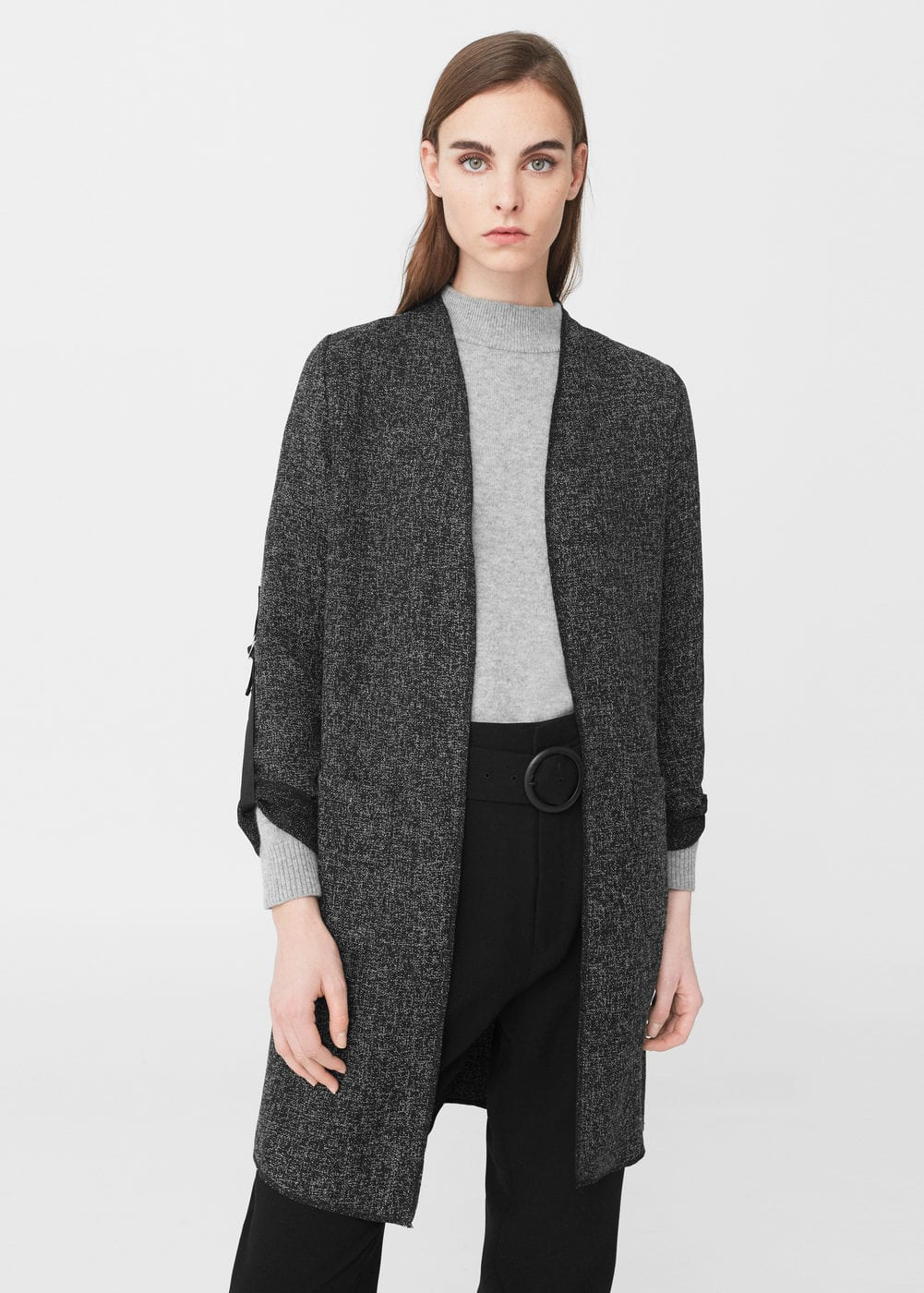 Unstructured long jacket | MANGO