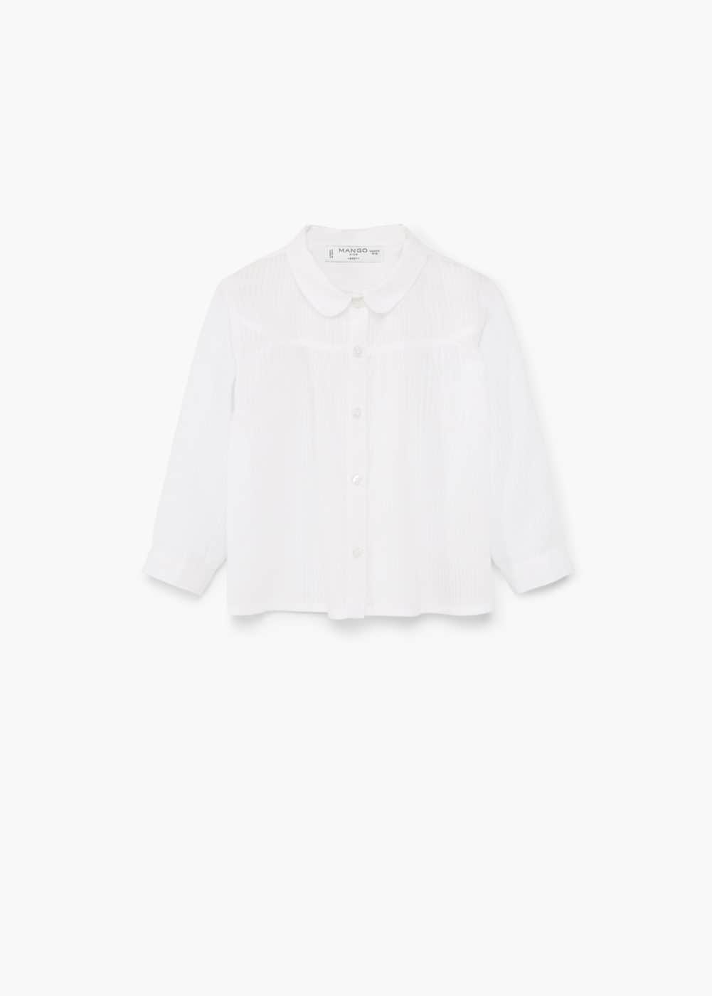 Striped cotton shirt | MANGO