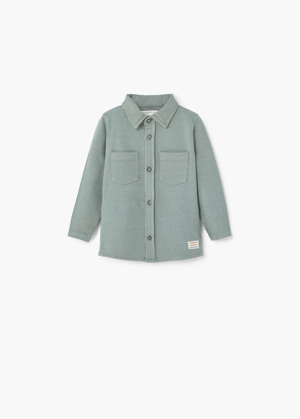 Slub-cotton shirt | MANGO KIDS