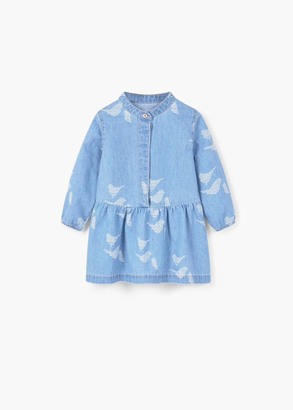 Printed denim dress | MANGO KIDS