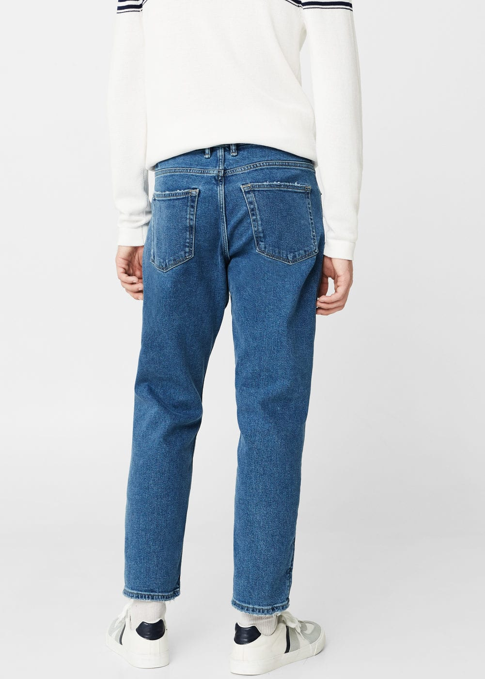 Straight-fit medium wash steve jeans | MANGO MAN
