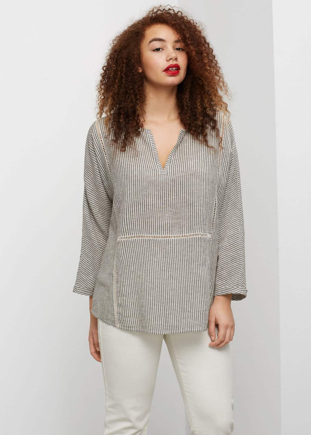 Openwork details blouse | VIOLETA BY MNG