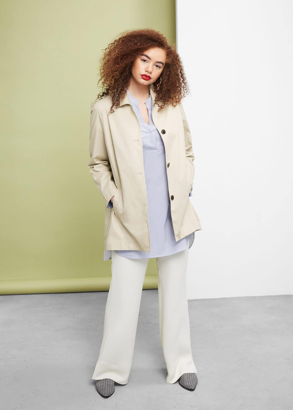 Classic cotton trench coat | VIOLETA BY MANGO