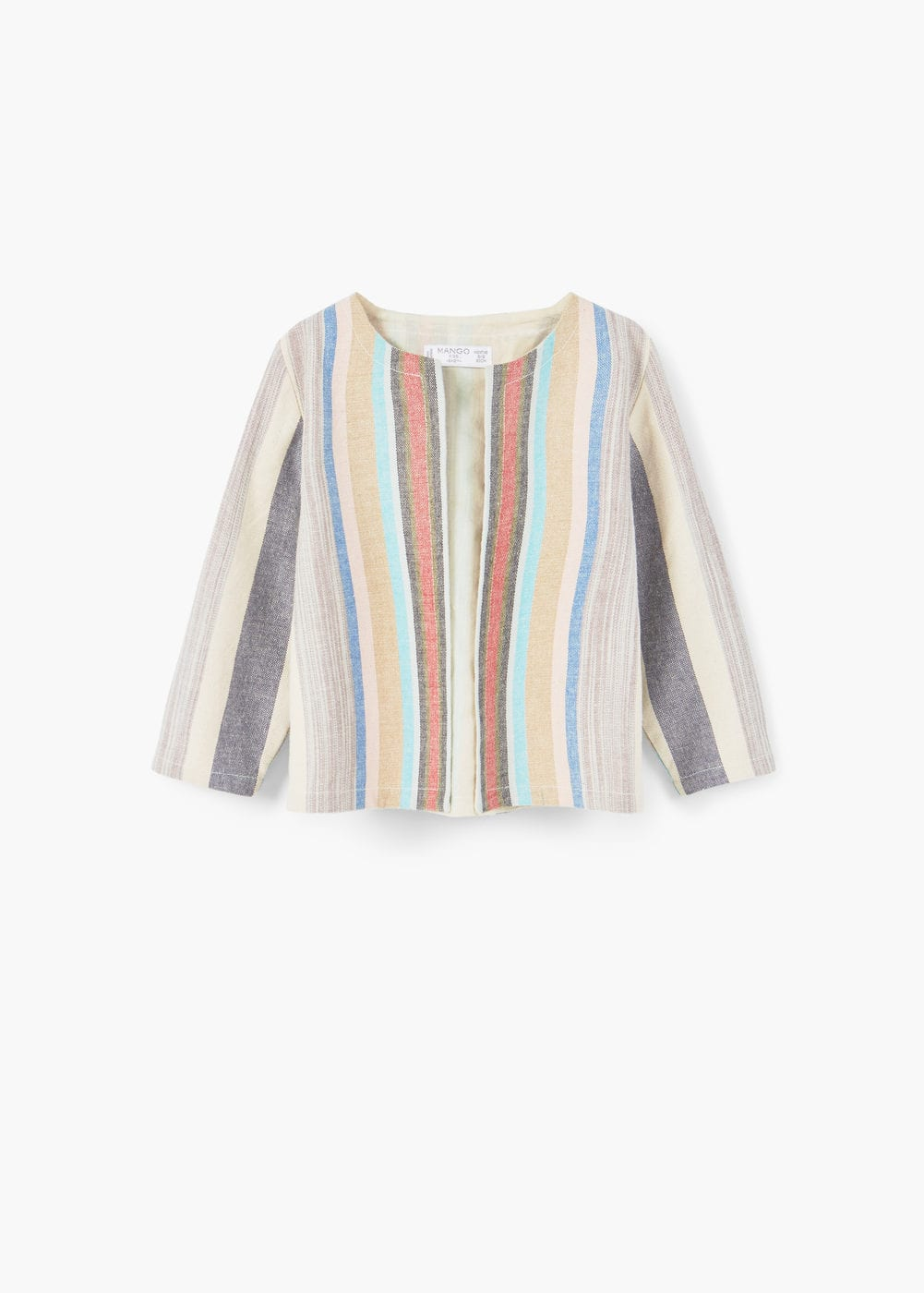 Structured striped jacket | MANGO